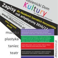 KDK – Zapisy do Akademii Szerokich Horyzontów