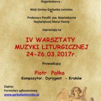 IV Warsztaty Muzyki Liturgicznej