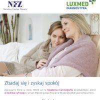 Bezpłatna mammografia w Kozienicach