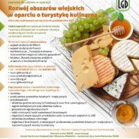 """Zapraszamy do udziału w projekcie """"Rozwój obszarów wiejskich w oparciu o turystykę kulinarną """"!!!"""